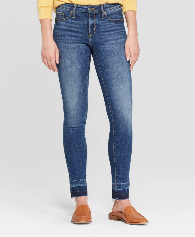 Universal Thread target released hem jean