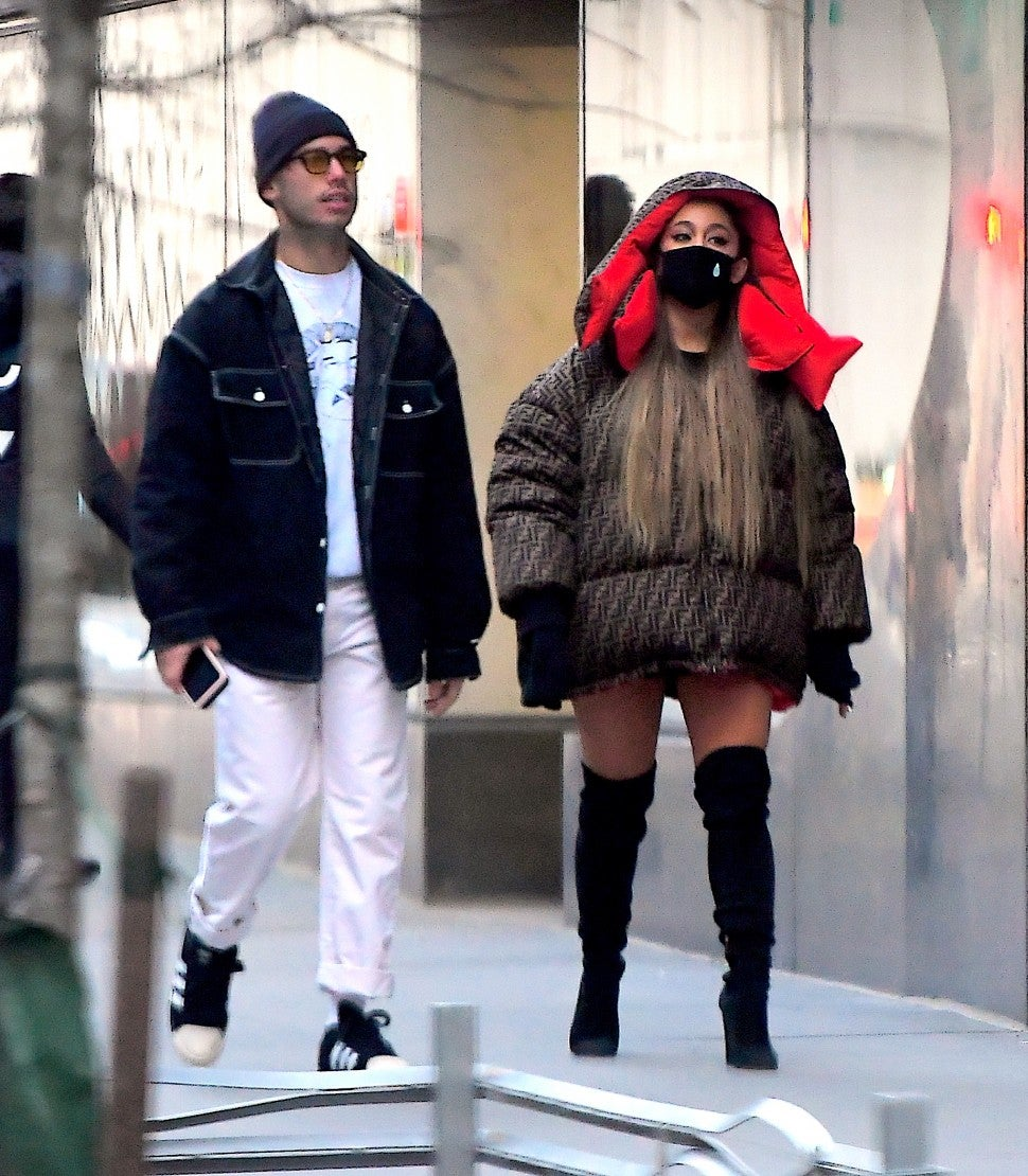 Ariana Grande Ricky Alvarez NYC New Year's Day