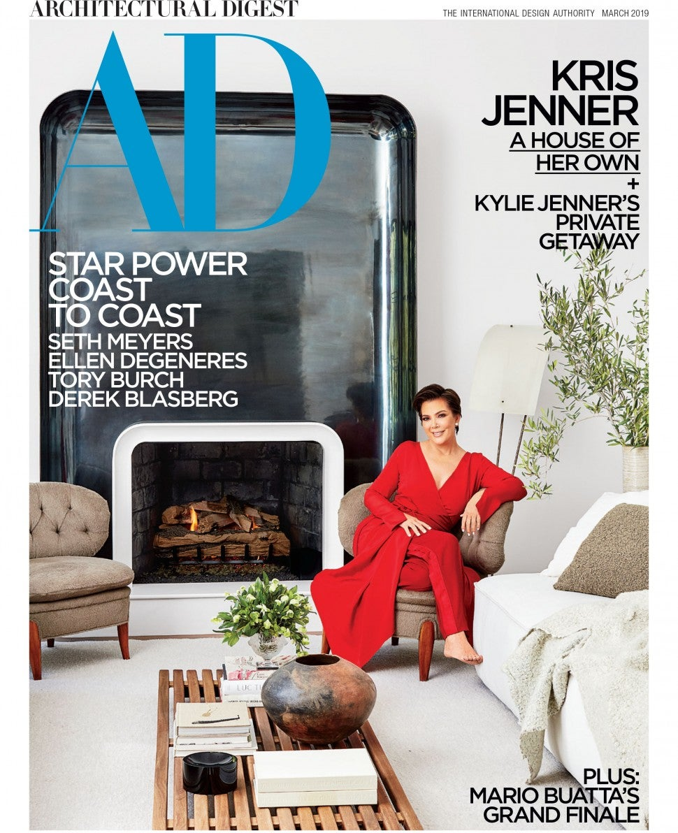 Kris Jenner Architectural Digest cover