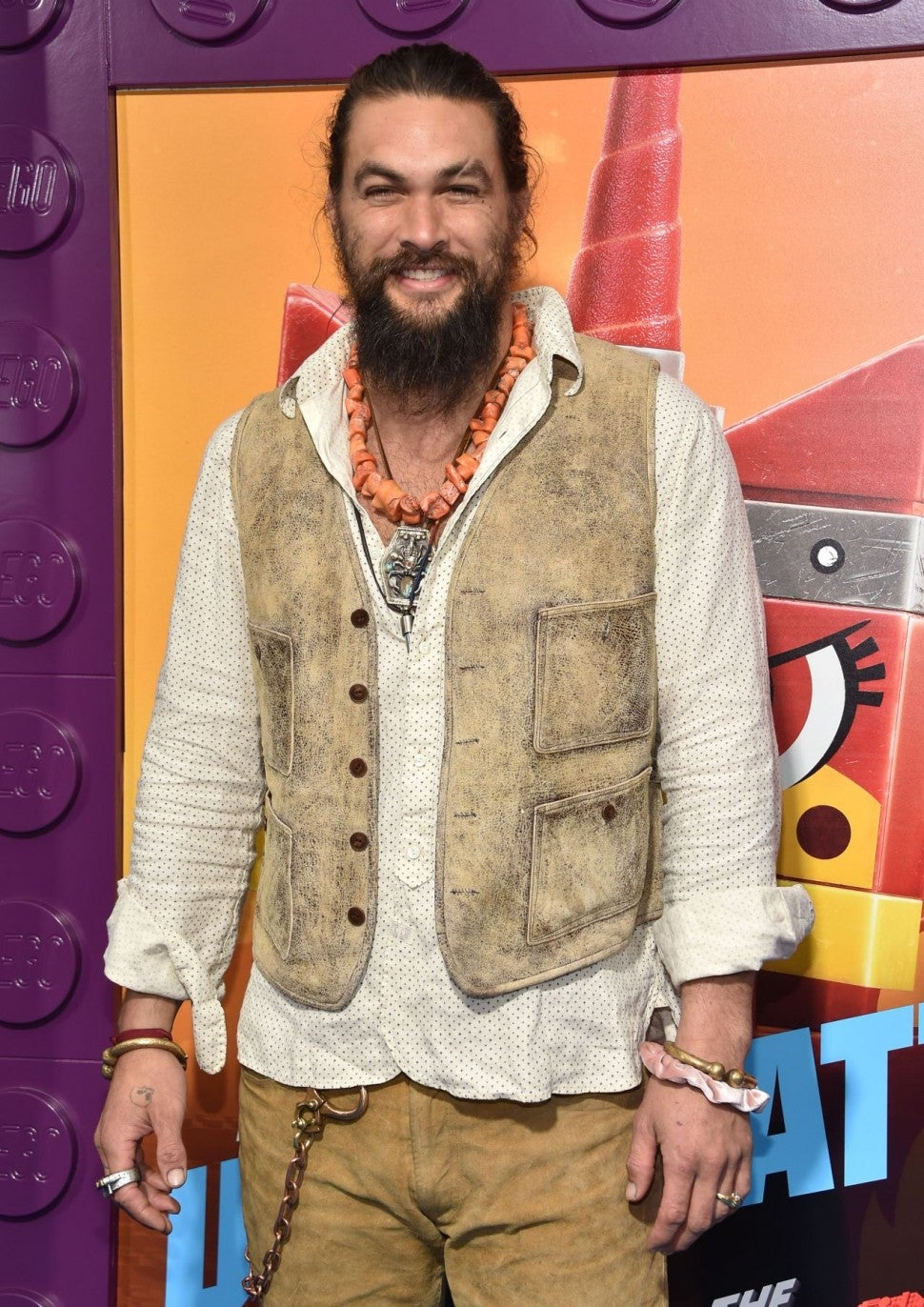 Jason Momoa at Lego Movie 2 premiere