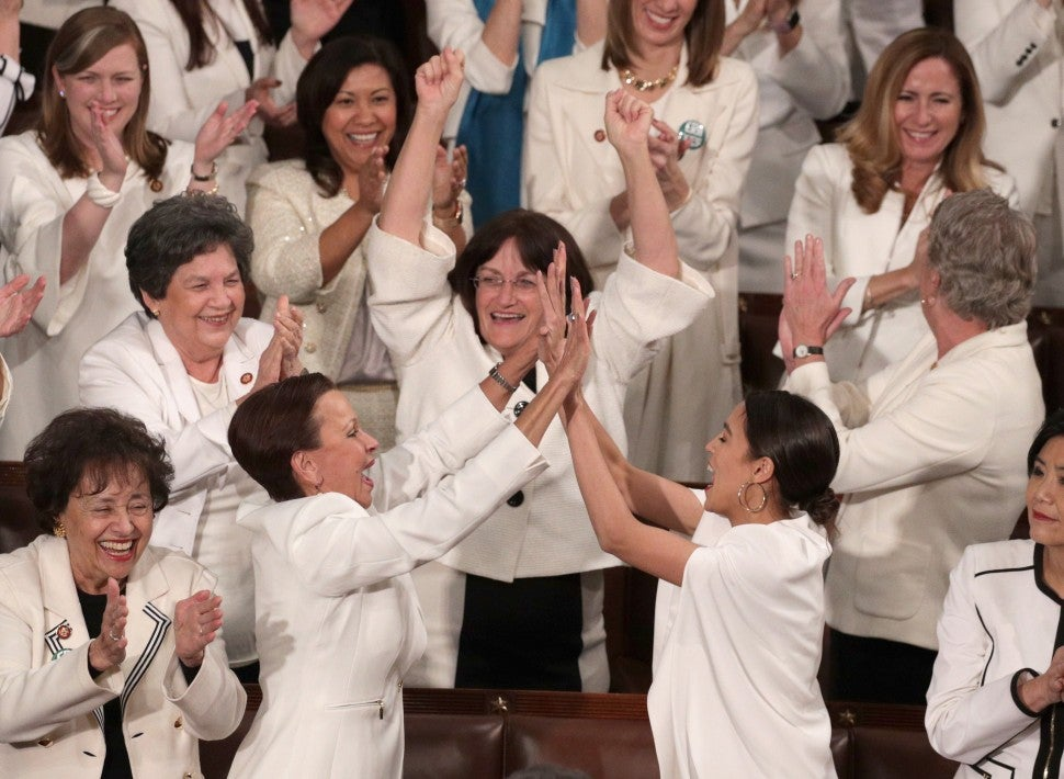 Women in white at State of the Union