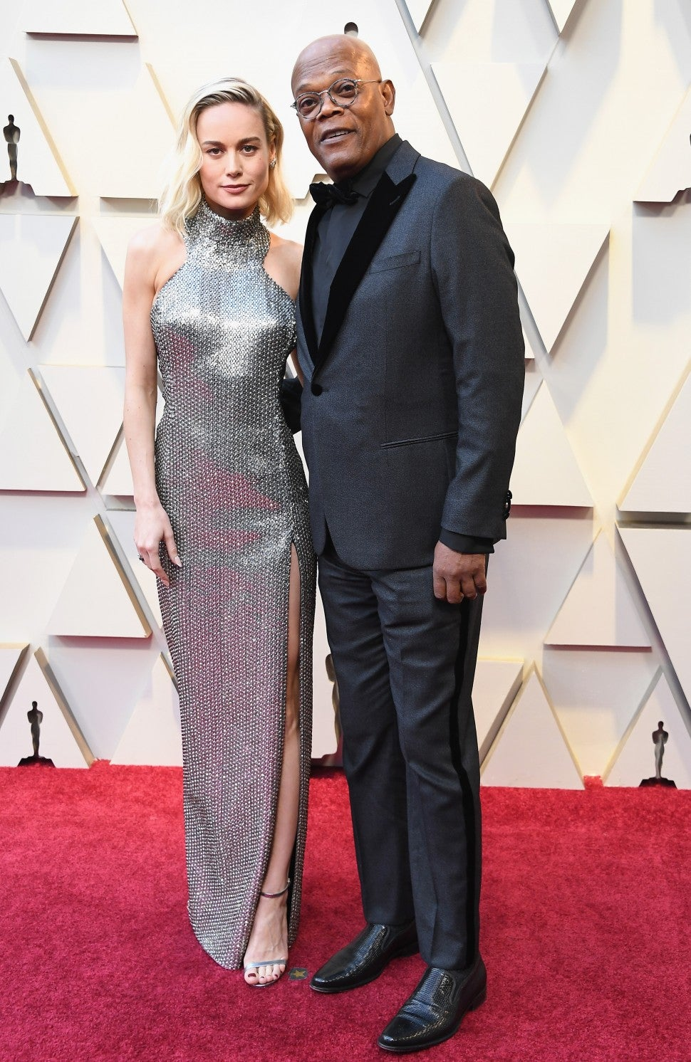 Brie Larson and Samuel L. Jackson at 2019 Oscars