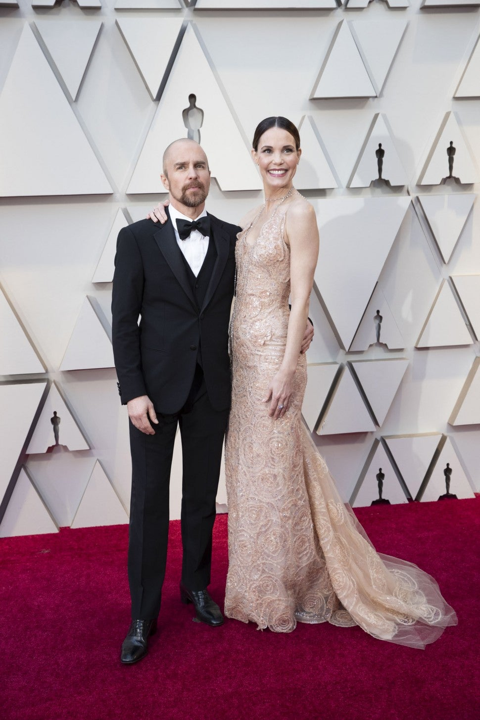 Sam Rockwell and Leslie Bibb at the 2019 Oscars