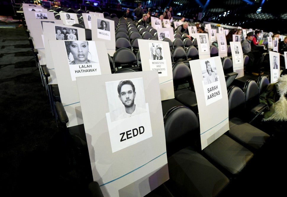 2019 Grammy Seating Chart