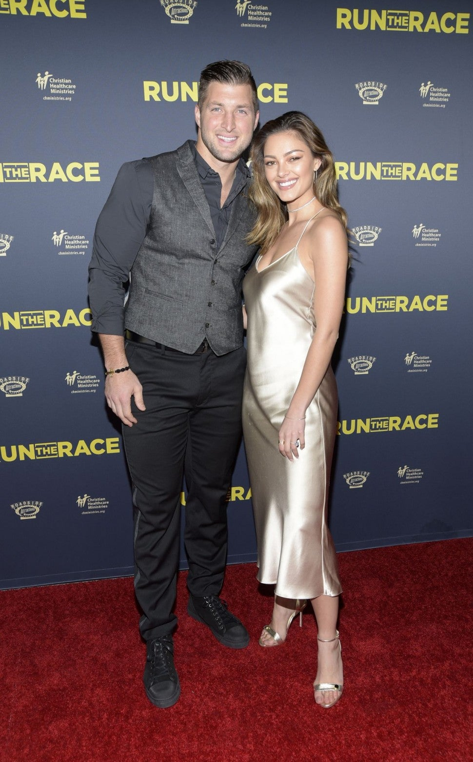 Tim Tebow and Demi-Leigh Nel-Peters at Run the Race