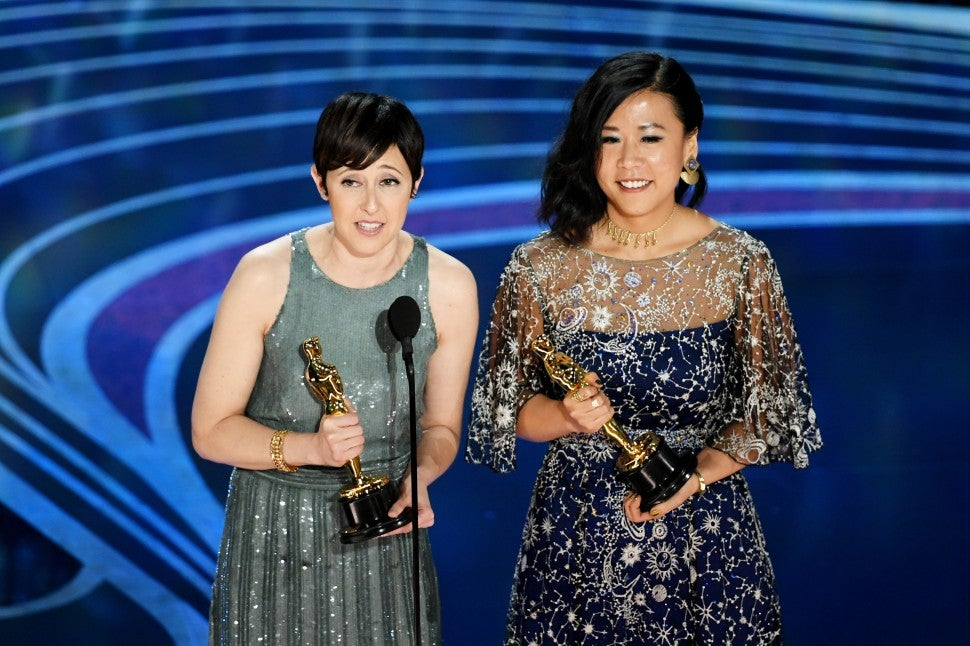 Becky Neiman-Cobb and Domee Shi  2019 Oscars