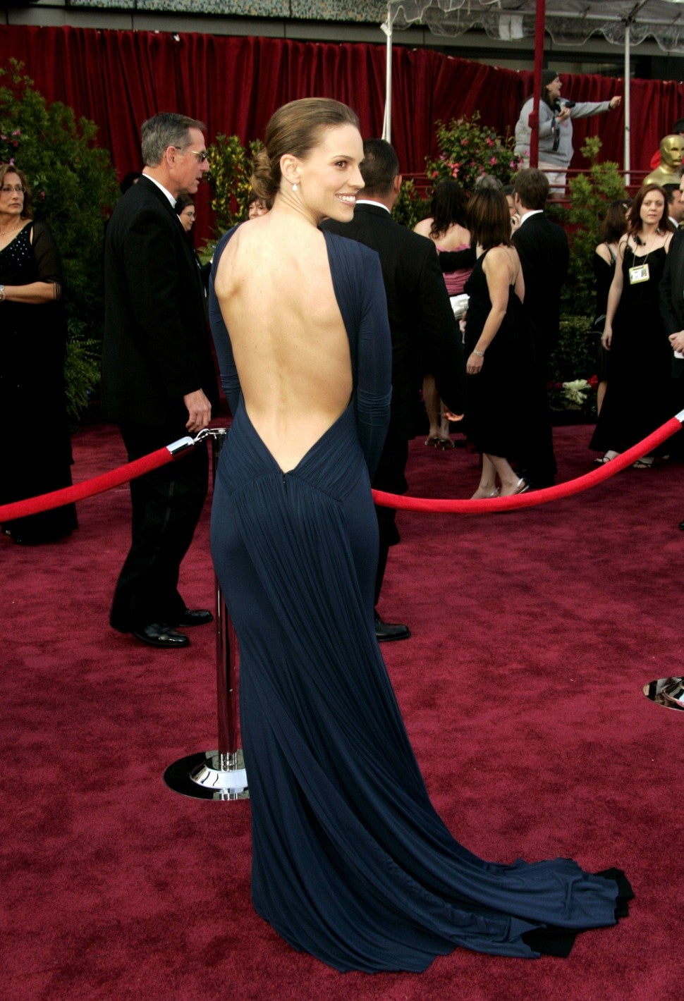 Hilary Swank Oscars 2005 dress
