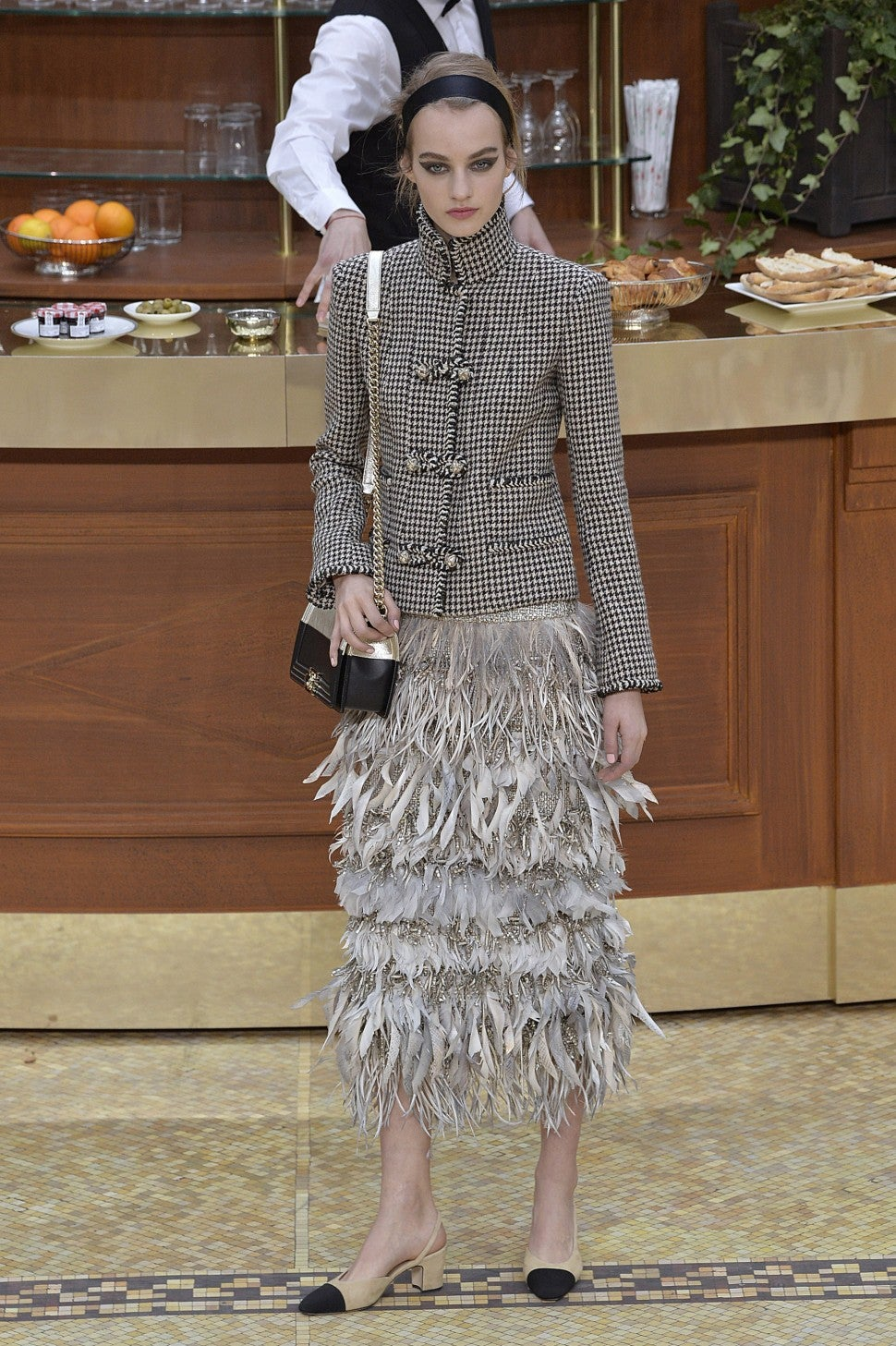 A model on the Chanel fall/winter 2015 runway.