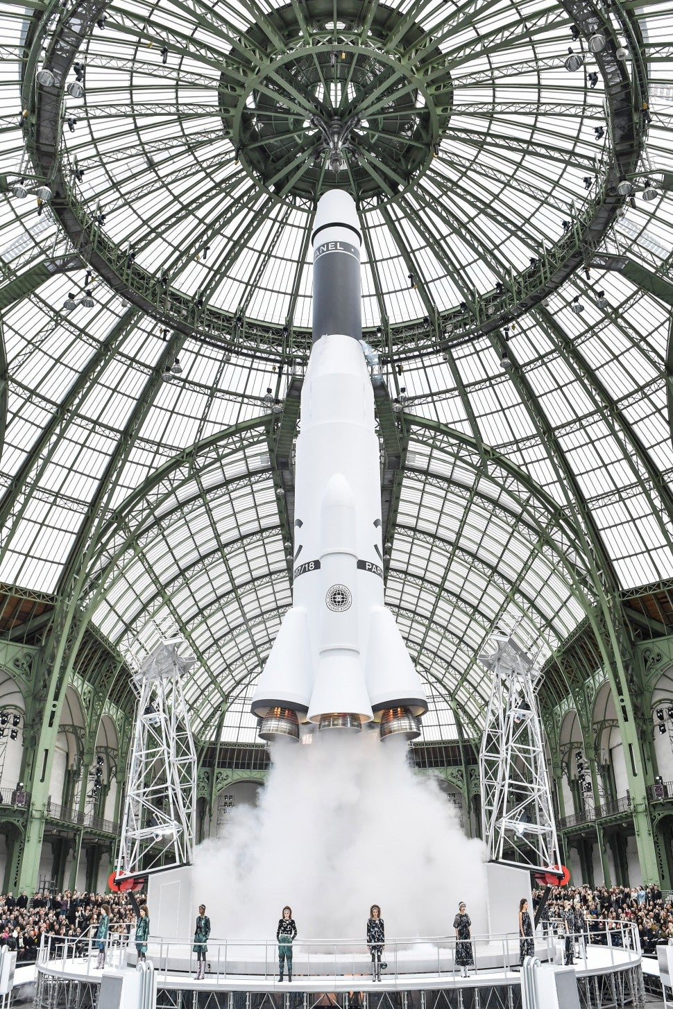 Chanel fall/winter 2017 set rocket launch