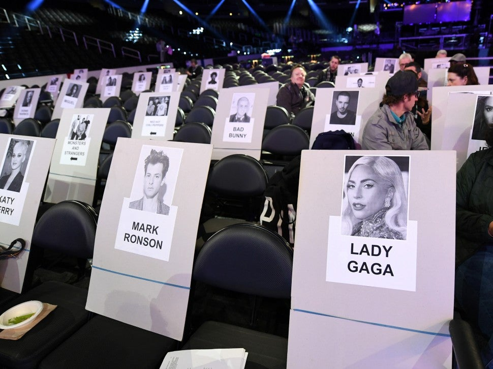 GRAMMYs 2019 Seating Chart