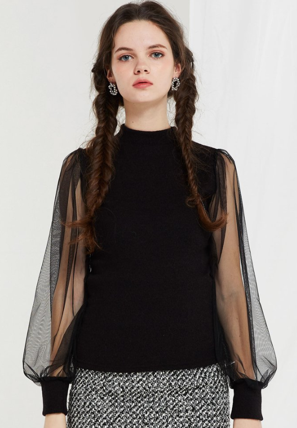 Storets sheer sleeve blouse