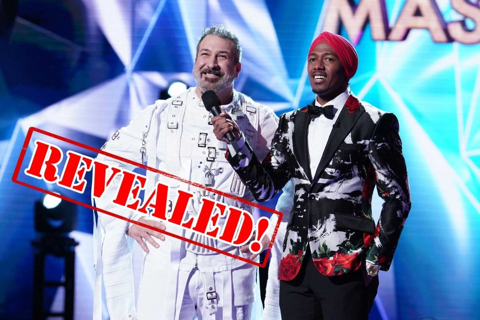 Joey Fatone is revealed to be The Rabbit on Fox's 'The Masked Singer'