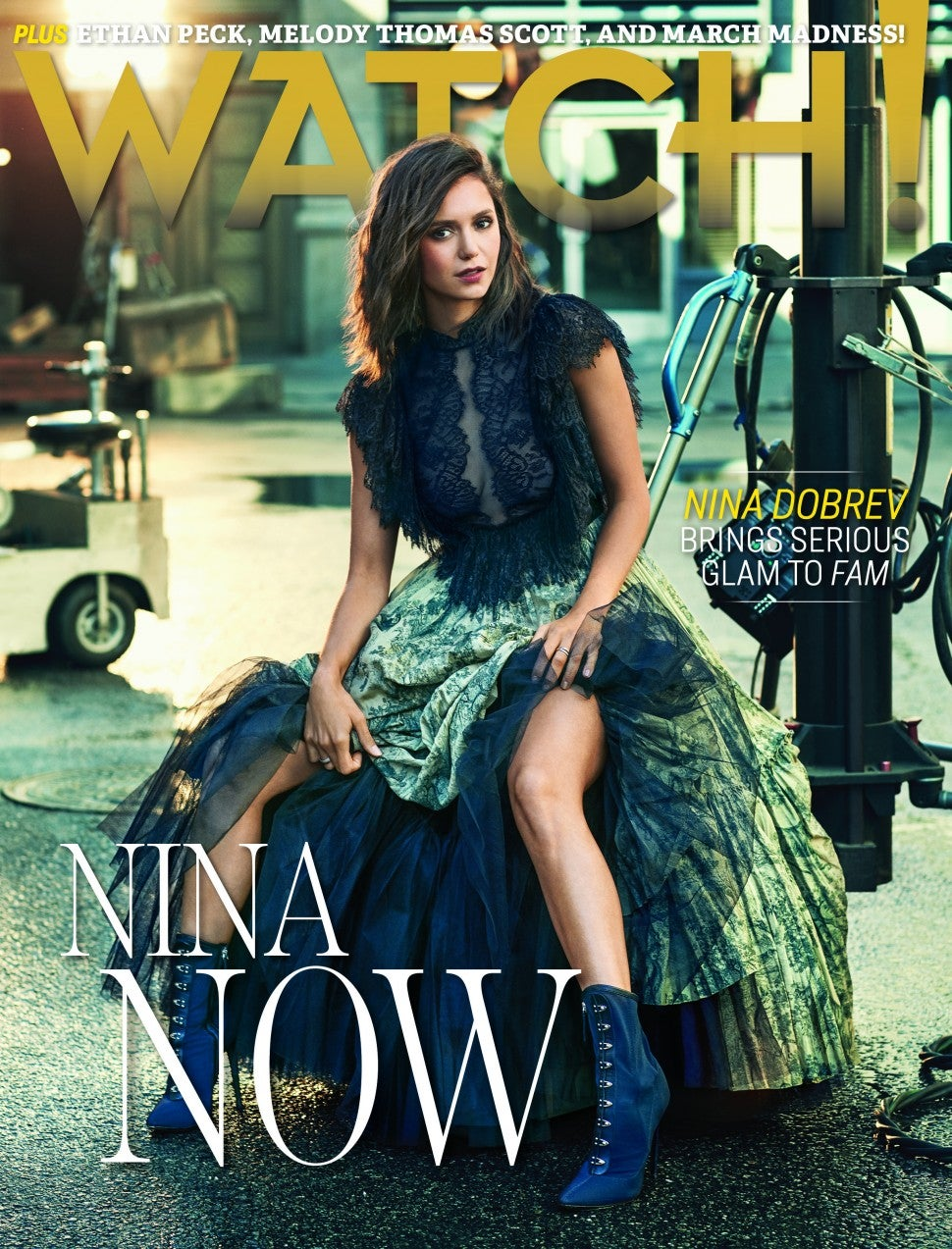Nina Dobrev covers CBS Watch! Magazine