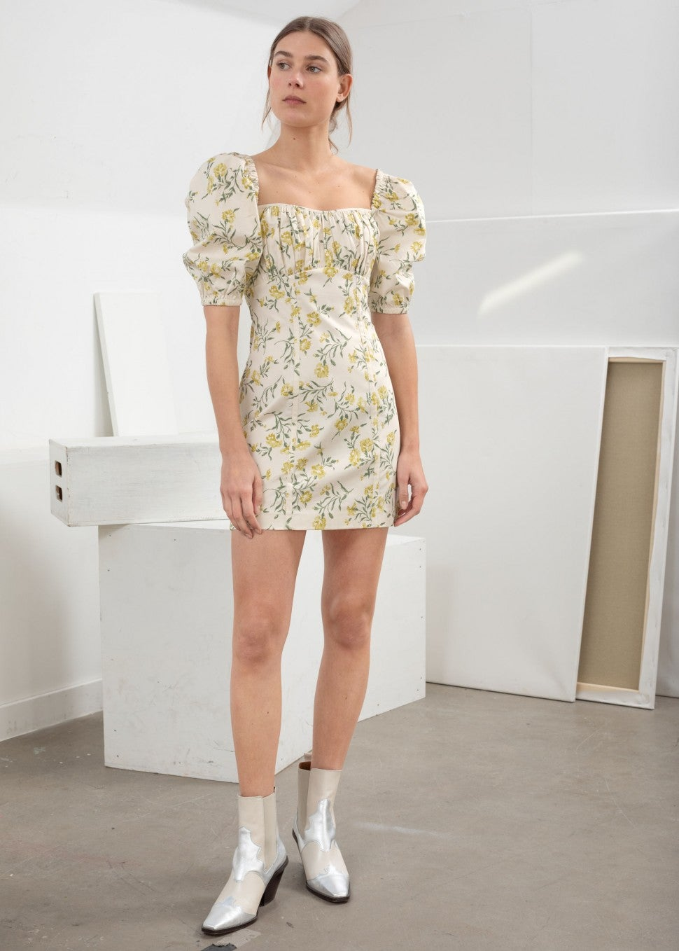 & Other Stories puff shoulder dress