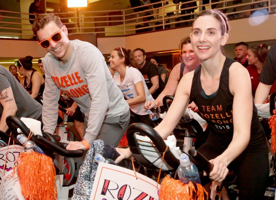 Dave Franco, Alison Brie Cycle for Survival