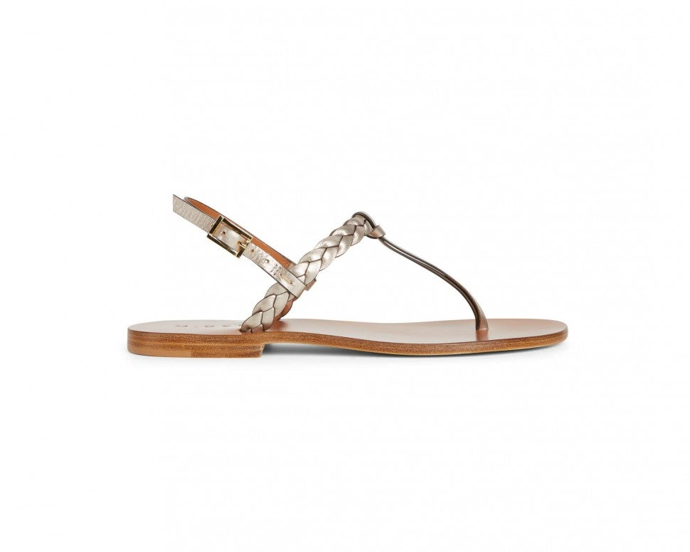 Draper James x M.Gemi metallic rope sandal