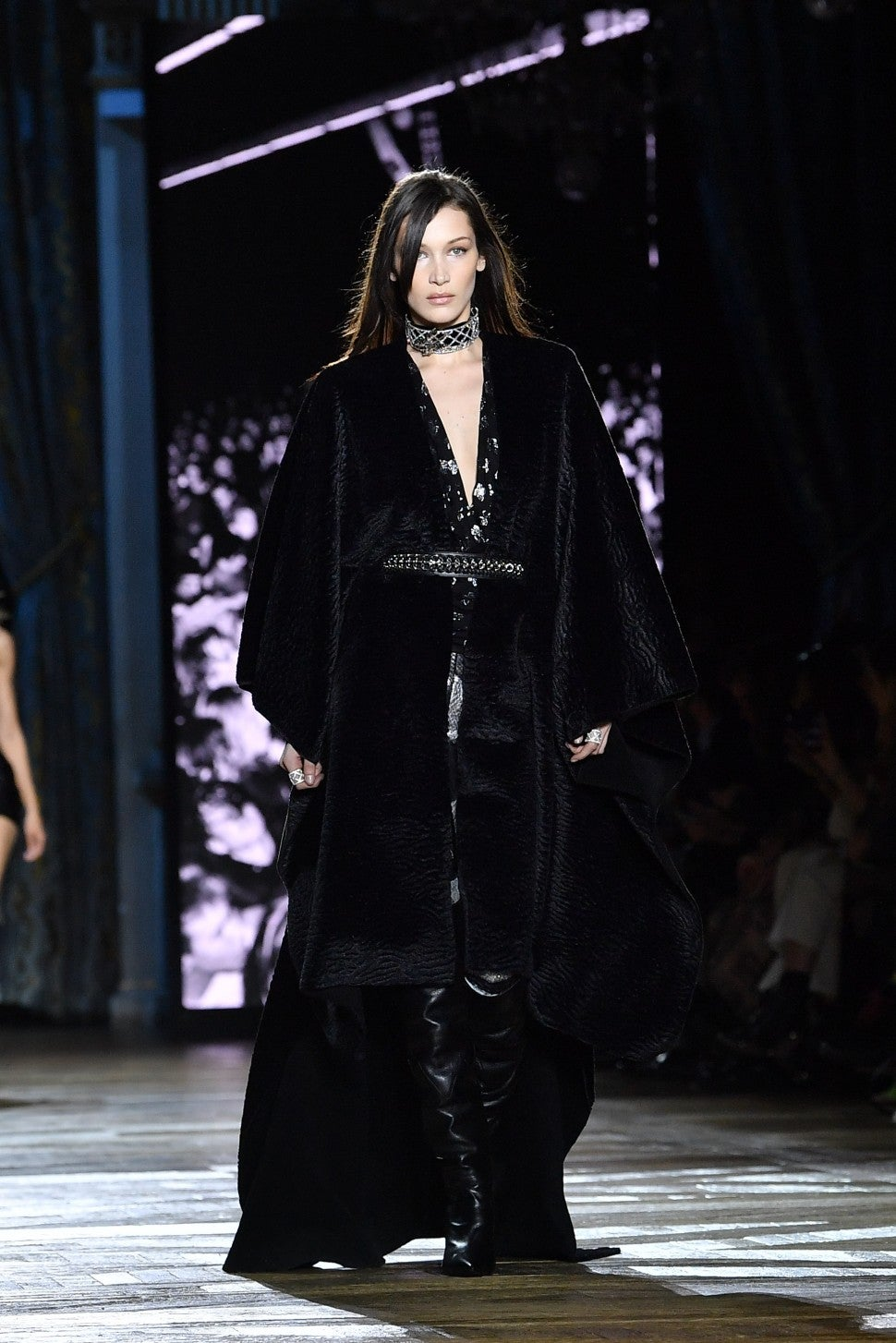 Bella Hadid Redemption fall 2019 cape trend