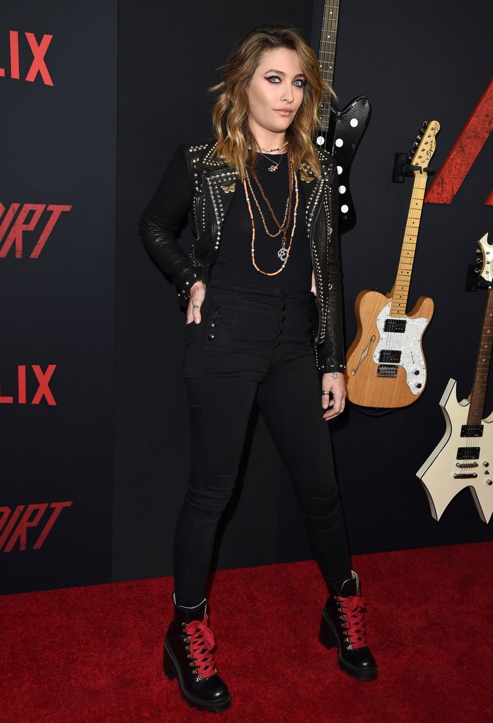 Paris Jackson arrives at the premiere of Netflix's 'The Dirt' at ArcLight Hollywood on March 18, 2019 in Hollywood, California.