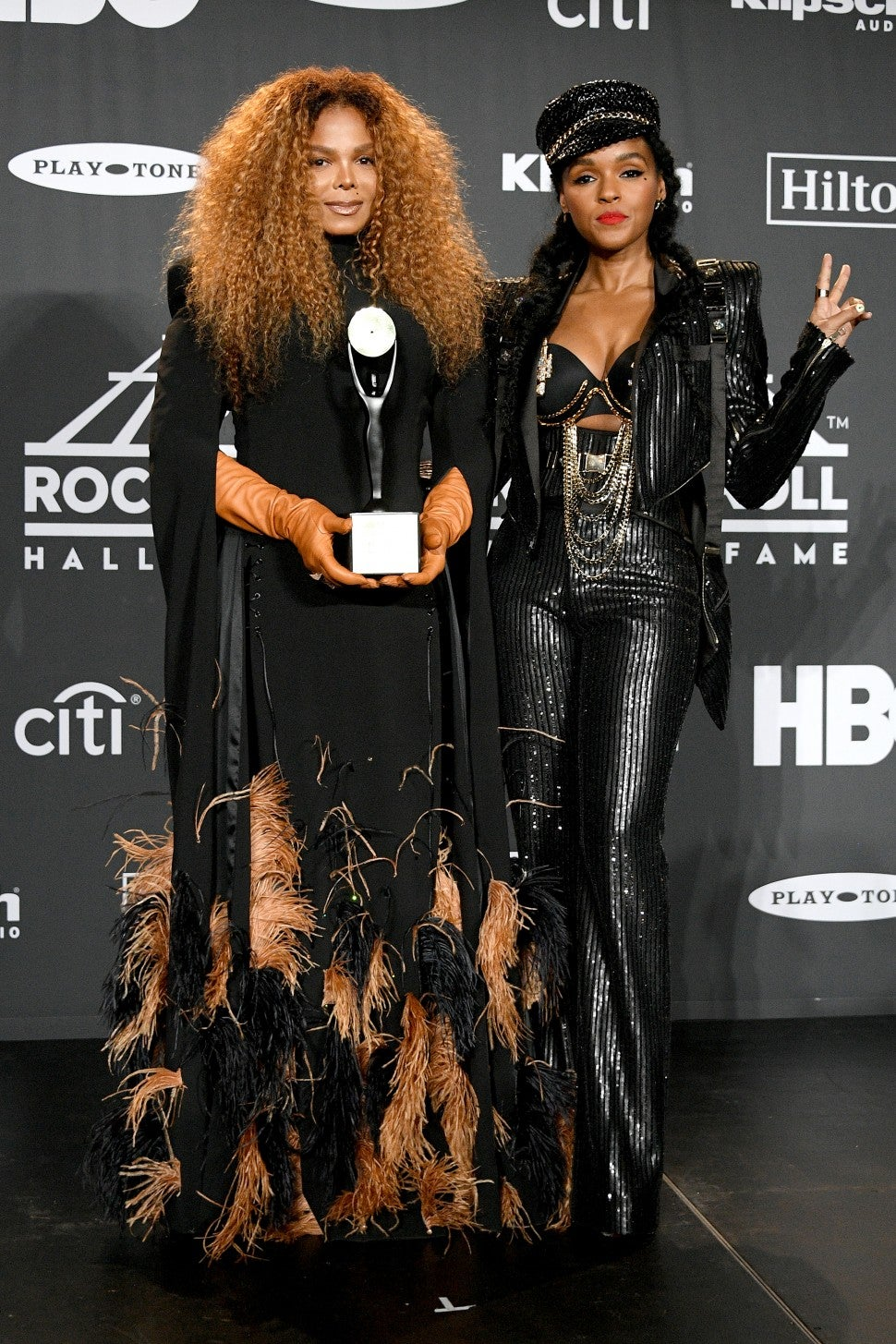 Janet Jackson Janelle Monae Rock and Roll Hall of Fame