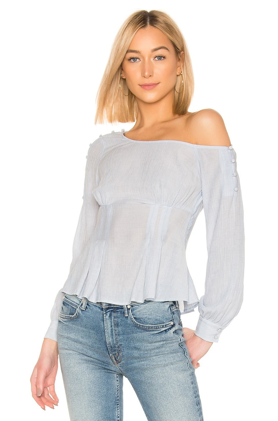 House of Harlow 1960 x Revolve asymmetric shoulder top