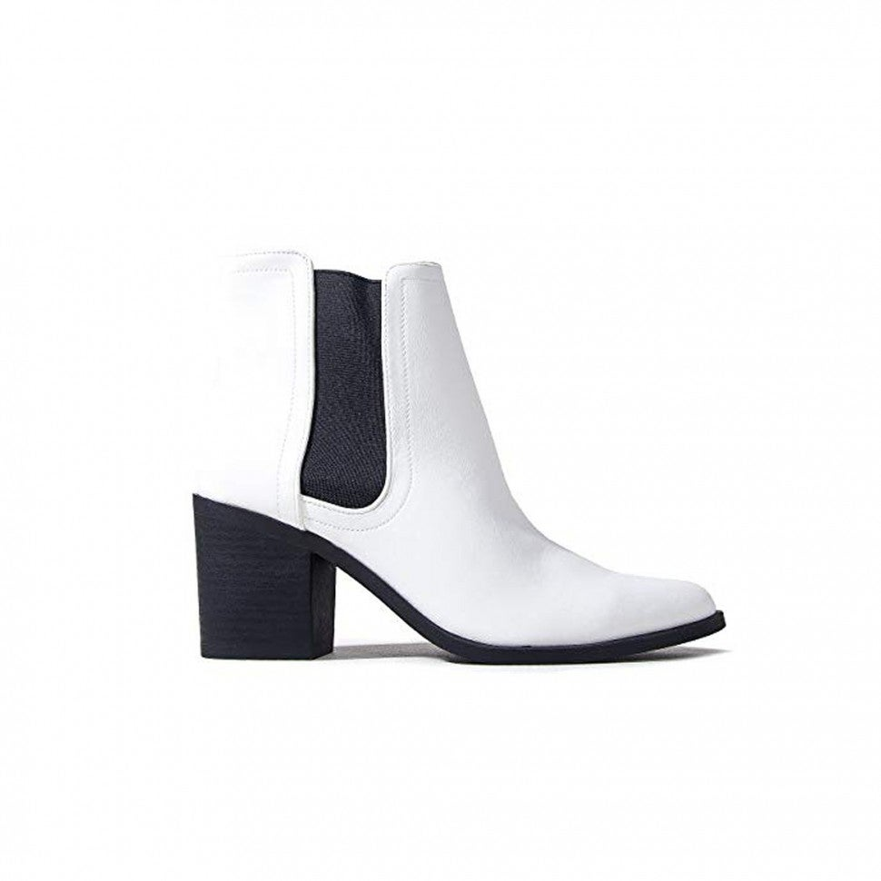 J. Adams Amazon white ankle boots