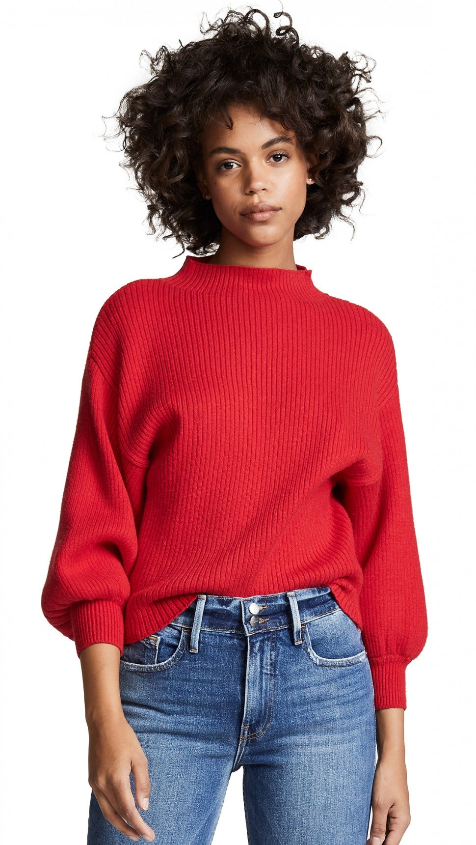 Line & Dot red sweater
