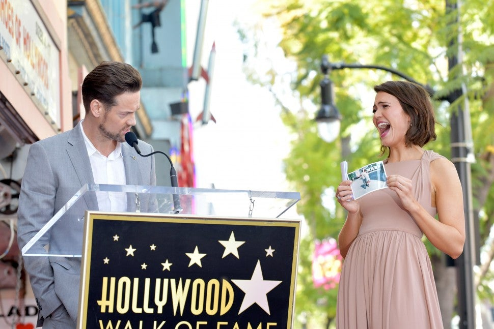 Shane West and Mandy Moore attend a ceremony honoring Mandy Moore with a star on the Hollywood Walk Of Fame on March 25, 2019 in Hollywood, California.