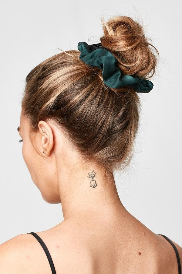 Silk Laundry emerald scrunchie