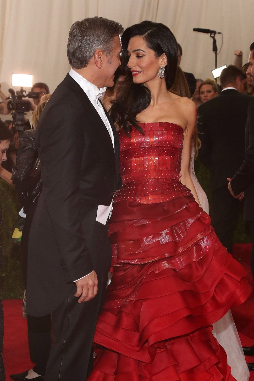 George Clooney and Amal Clooney attend