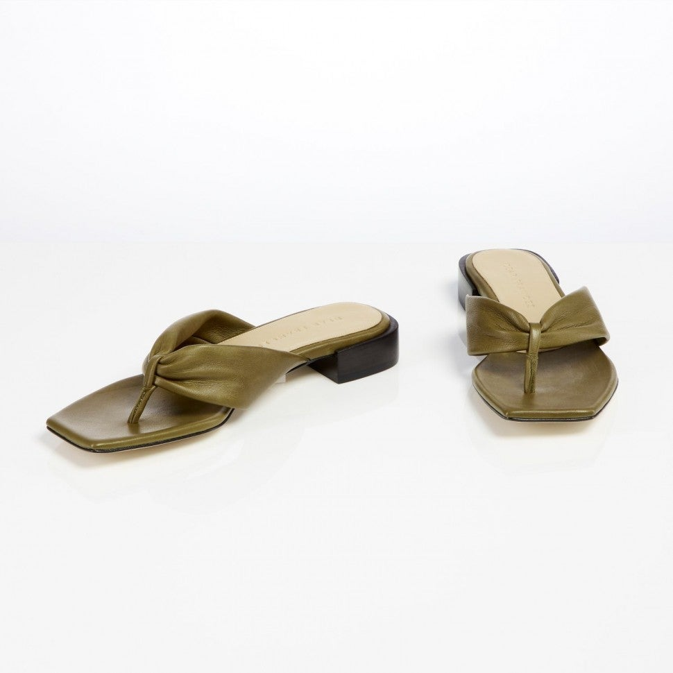 Dear Frances wrap sandal in olive