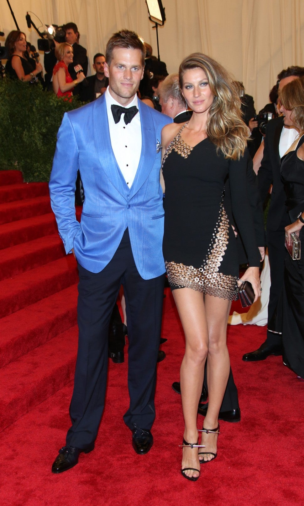 Gisele Bundchen and Tom Brady arrive at the Costume Institute Gala for the