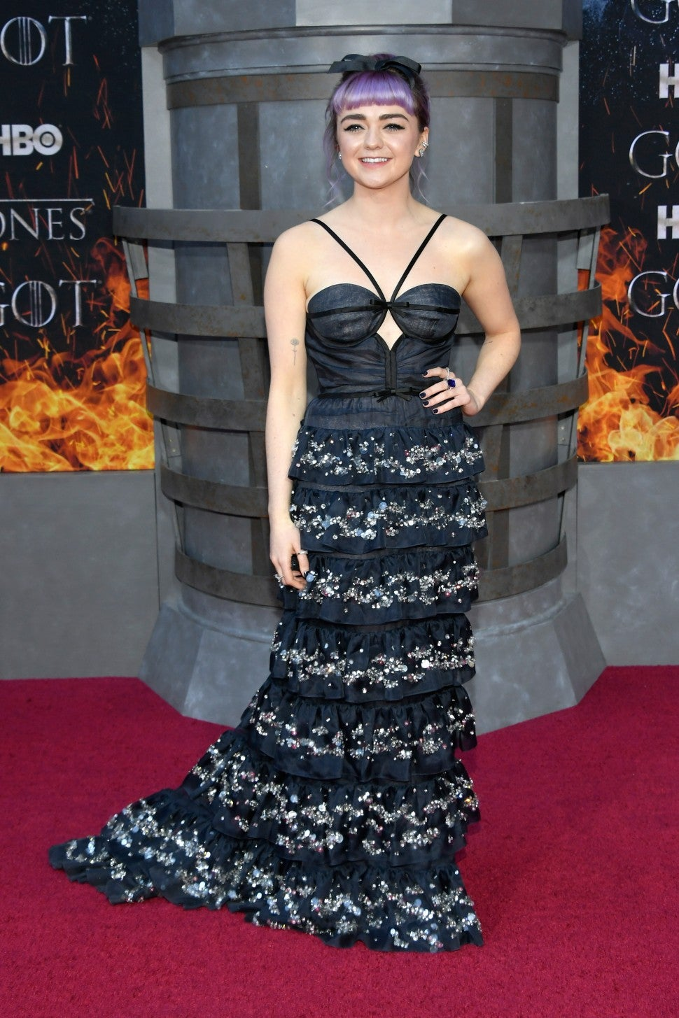 Maisie Williams Game Of Thrones Season 8 Premiere