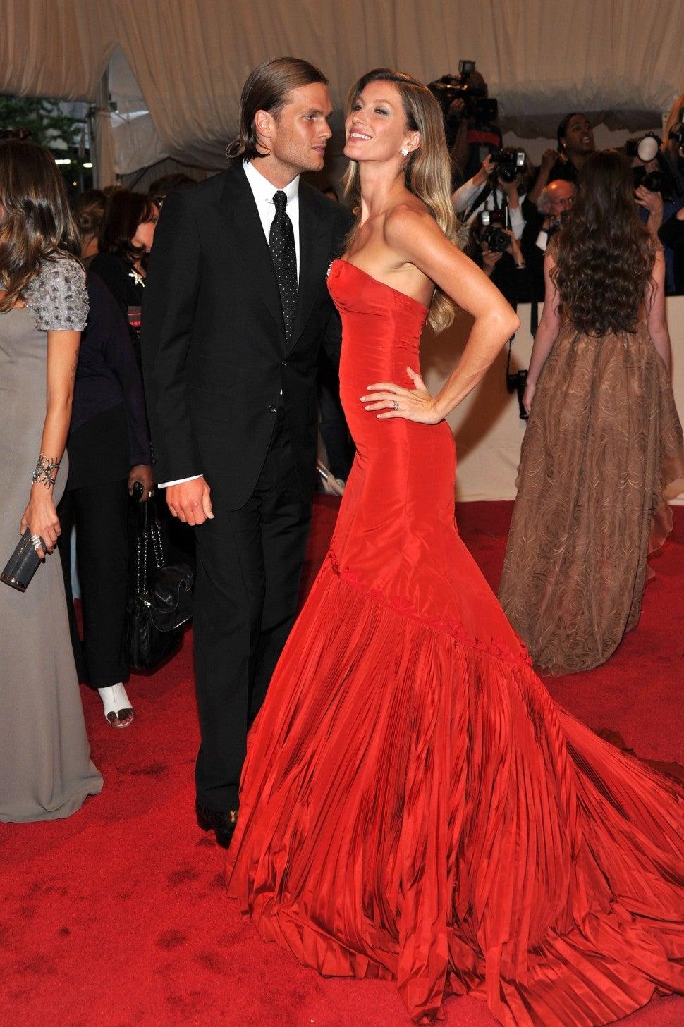 Tom Brady and Gisele Bundchen attends the