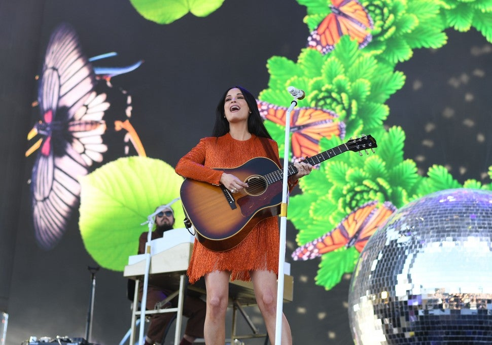 Kacey Musgraves onstage at Coachella 2019