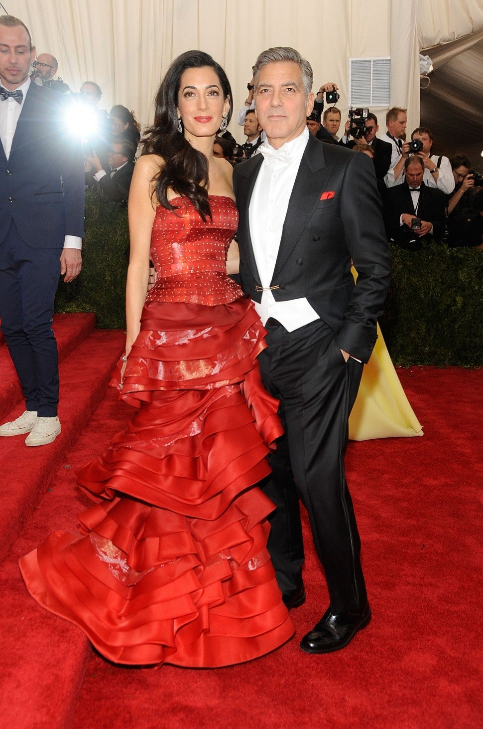 George Clooney and Amal Alamuddin arrives at