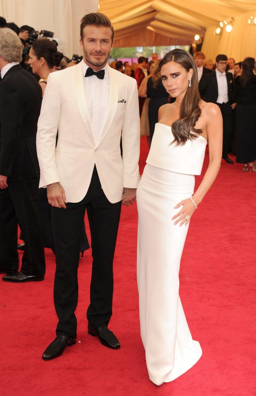 David Beckham and Victoria Beckham attend the