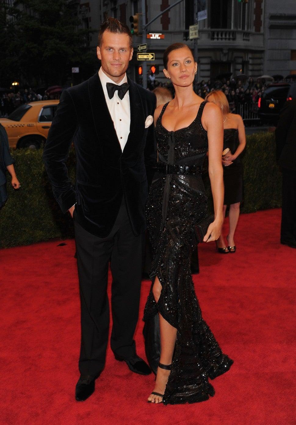 Tom Brady and Gisele Bundchen attend the