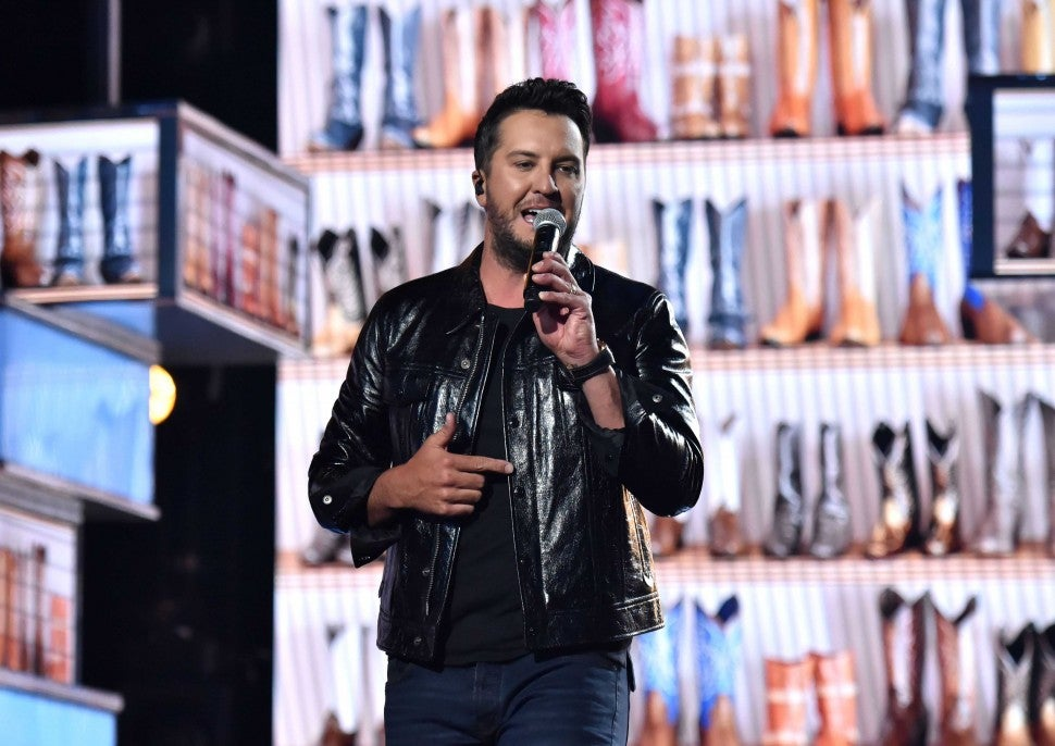 Luke Bryan performs at the 54th Academy Of Country Music Awards in Las Vegas on April 7