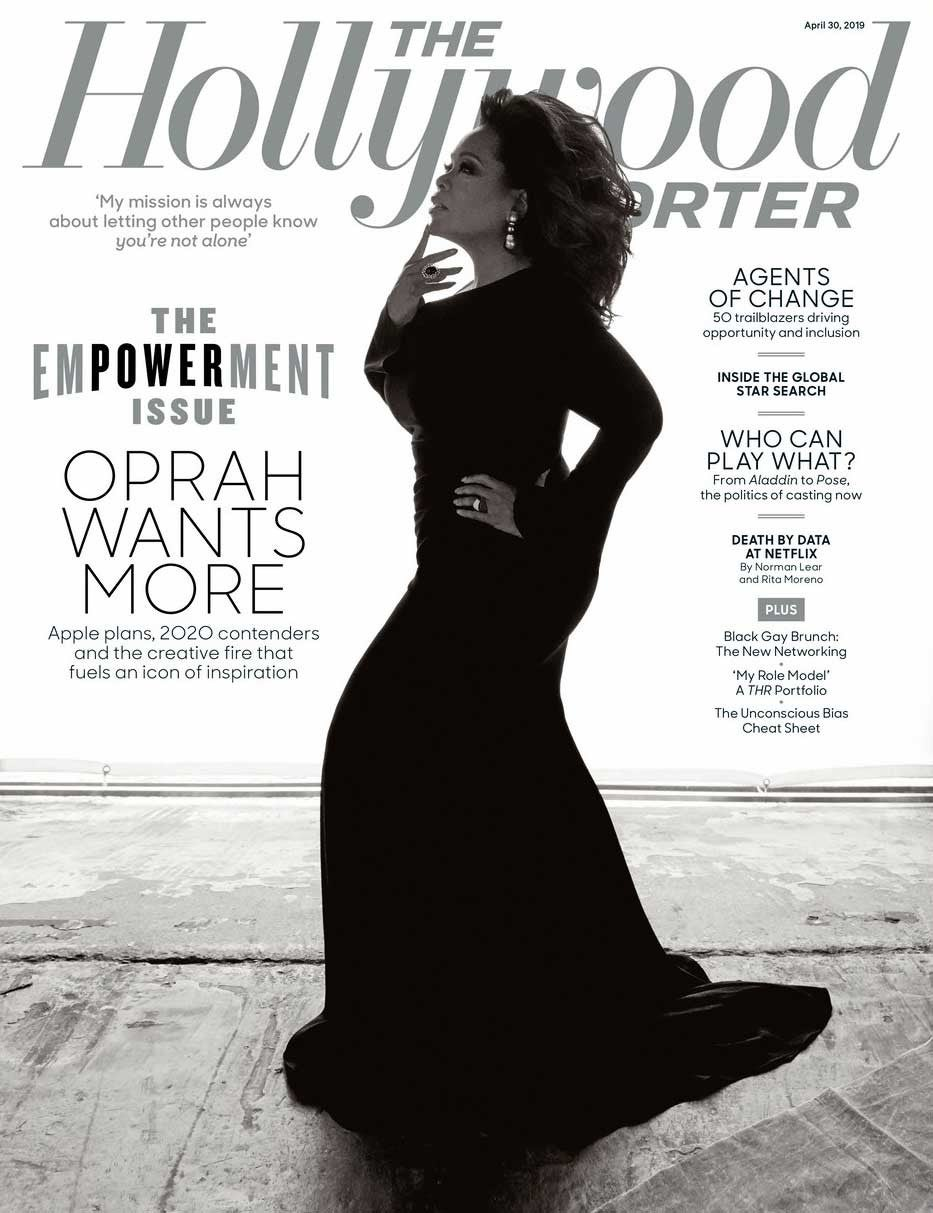 Oprah Winfrey on the cover of 'The Hollywood Reporter's 'Empowerment Issue'