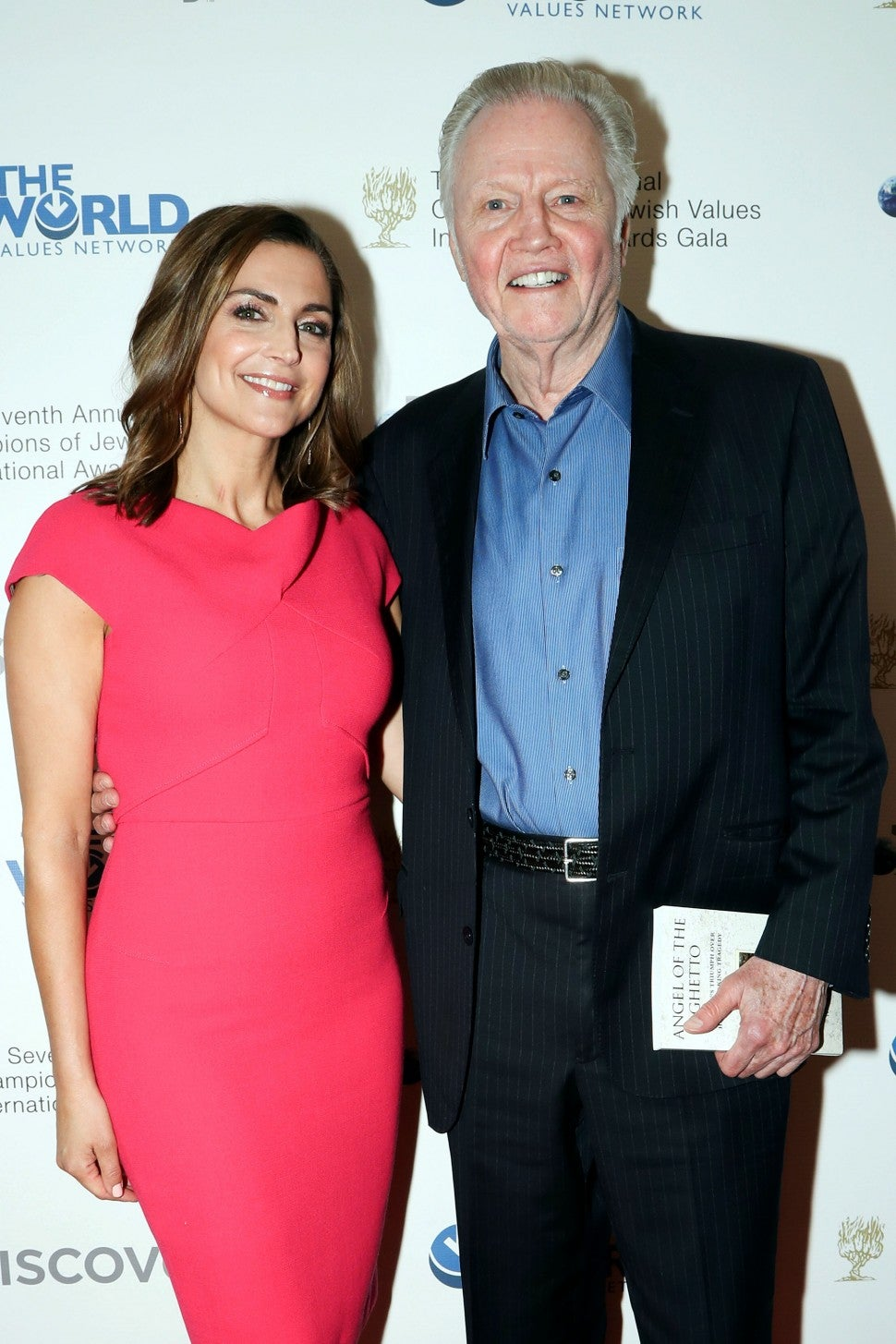 Jon Voight and Paula Faris