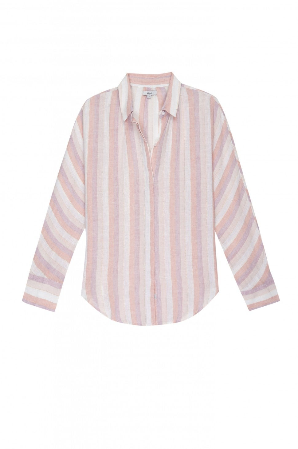 Rails pink striped shirt