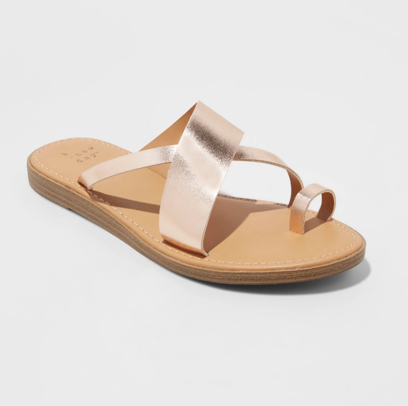A New Day rose gold toe ring sandal
