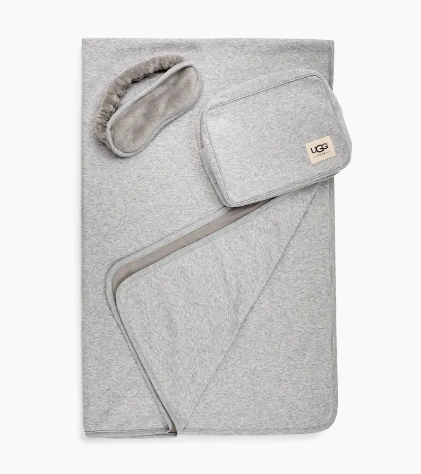 UGG travel blanket and eye mask