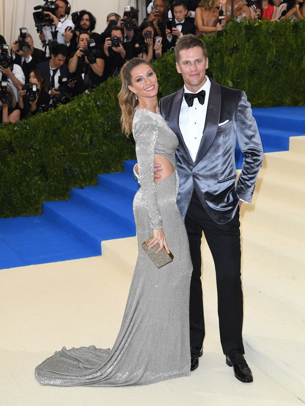 Gisele Bundchen and Tom Brady attend the 'Rei Kawakubo/Comme des Garcons: Art Of The In-Between' Costume Institute Gala at Metropolitan Museum of Art on May 1, 2017 in New York City.