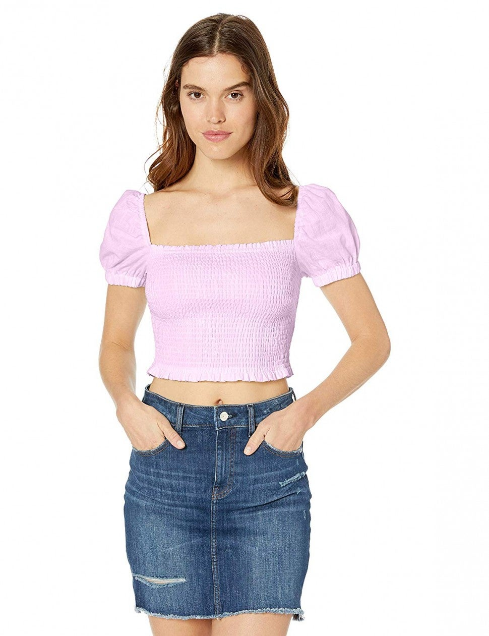 ASTR The Label lilac smocked top