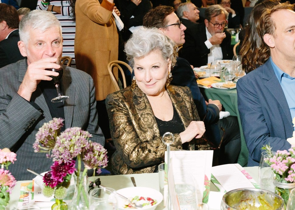 Bette Midler at edible schoolyard nyc spring benefit