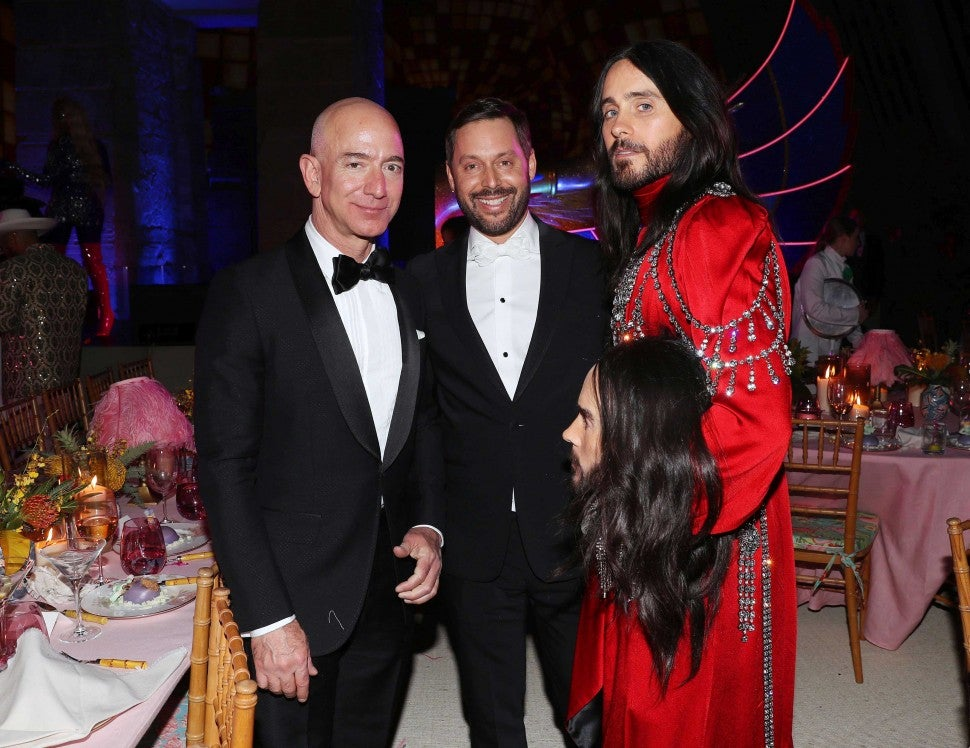 Jeff Bezos and Jared Leto at the 2019 Met Gala