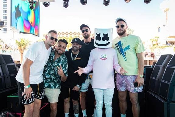 Blake Griffin and Marshmello at kaos dayclub