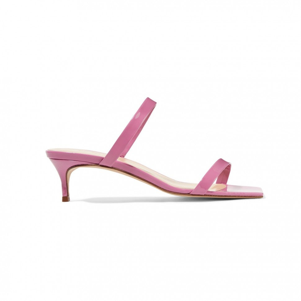 By Far pink mules