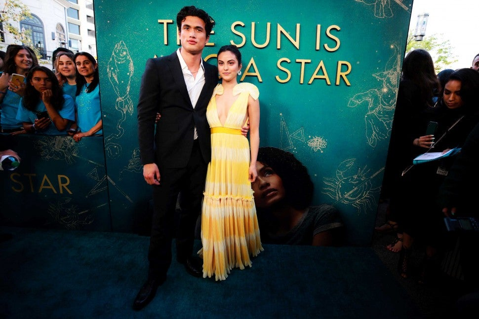 Camila Mendes and boyfriend Charles Melton at the LA premiere of 'The Sun Is Also a Star' on May 13